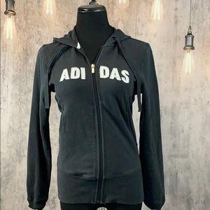 ADIDAS fitted Zip Up Hoodie